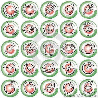 Italien food symbols