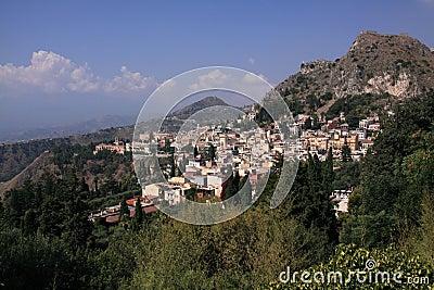 Italien Sizilien Taormina vom Theater
