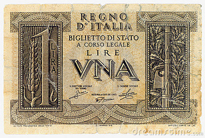 Italienska lire en