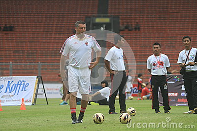 Italy and AC Milan Legend Daniele Massaro Editorial Image