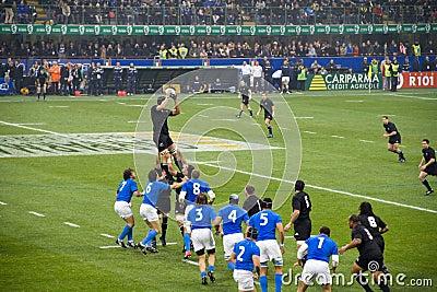 Italy - All Blacks Editorial Image