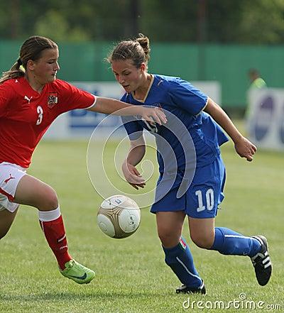 Free Italy - Austria, Female Soccer U17; Friendly Match Stock Image - 9448831