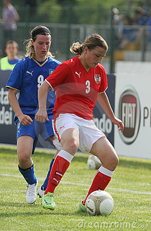 Italy - Austria, female soccer U17; friendly match Editorial Photography