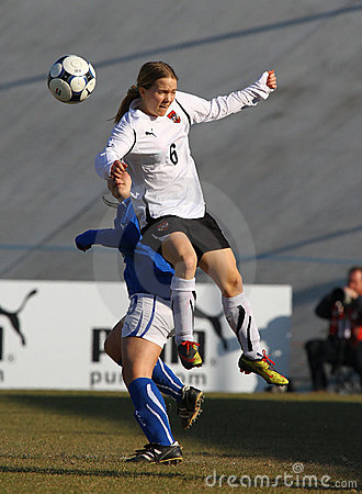 Italy - Austria, female soccer U19; friendly match Editorial Image