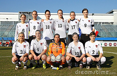 Italy - Austria, female soccer U19; friendly match Editorial Photo