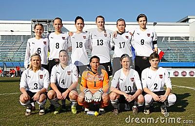 Italy - Austria, female soccer U19; friendly match Editorial Photo