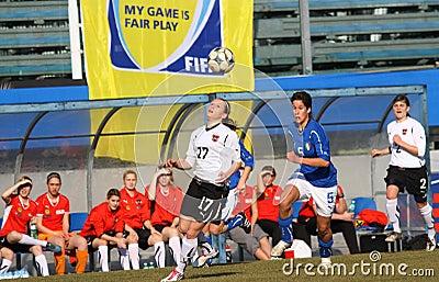 Italy - Austria, female soccer U19; friendly match Editorial Stock Photo
