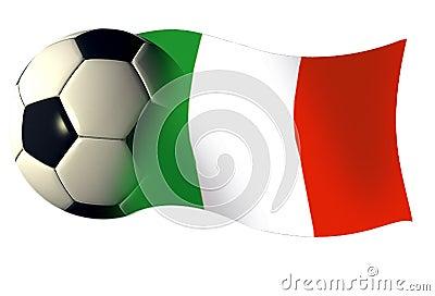 Italy ball flag