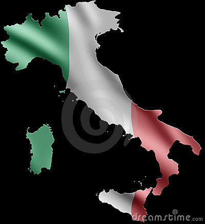 Italy and Flag