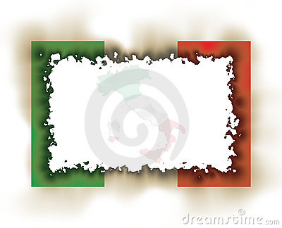 Italy Flag Frame Burnt