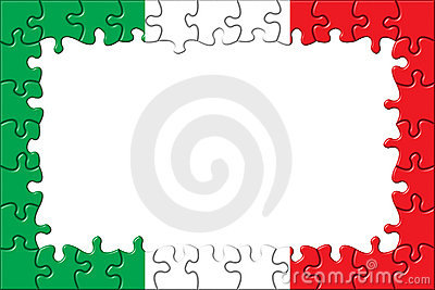Italy Flag Frame Puzzle