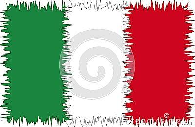 Italy flag stylized