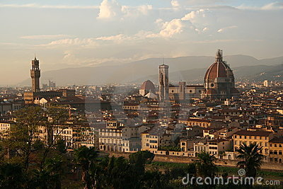 Italy, Florence at sunset