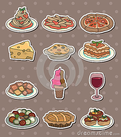 Italy food stickers