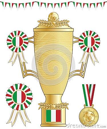 Italy football trophy