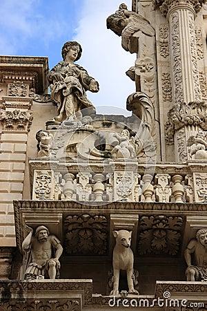 Italy Lecce Santa Croce Church facade