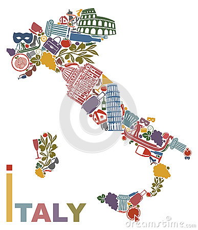 Free Italy Map Stock Images - 29533484