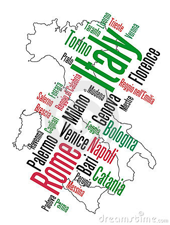 Italy map and cities