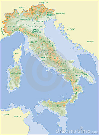 Italy map - French