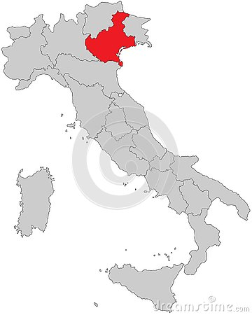 Italy - Map of Italy - High Detailed Vector Illustration
