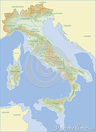 Italy map - italian