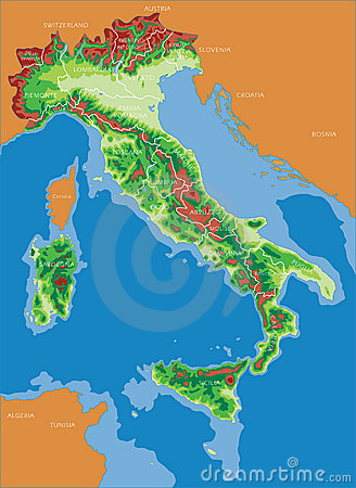 Free Italy Map - Italian Royalty Free Stock Images - 2403089