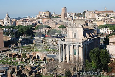 Italy monumental view of Rome