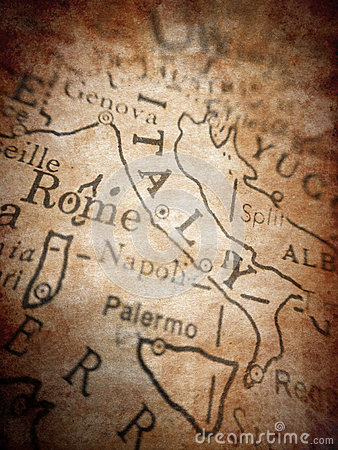 Italy Old Map Royalty Free Stock Photo - Image: 28450025