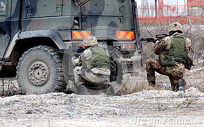 Italy, paratroopers military exercises department Editorial Photography