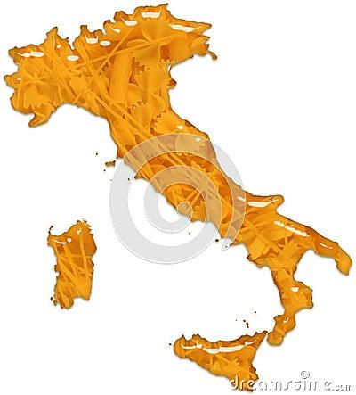 Italy Pasta Food Glossy Glass
