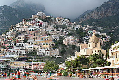 Italy. Positano resort. Beach