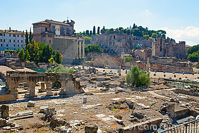 Italy.Rome.Ancient ruins of the Roman Forum