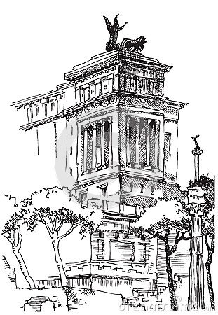 Stock Illustration Italy Rome Local Architecture View Image43483653