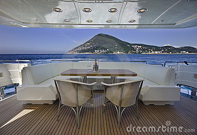 Italy, S.Felice Circeo (Rome), luxury yacht