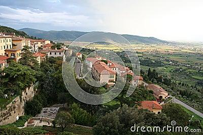 Italy. Toscana. Panorama of Cortona