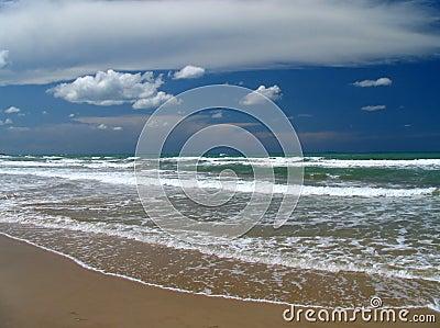 Italy vacant beach