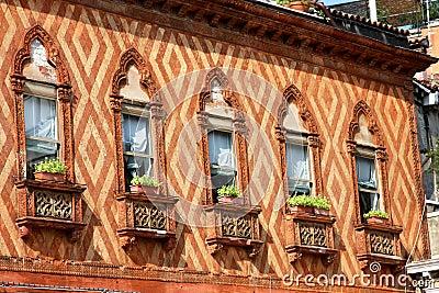 Italy. Venetian  windows