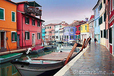 Italy, Venice: Burano Island Editorial Stock Photo