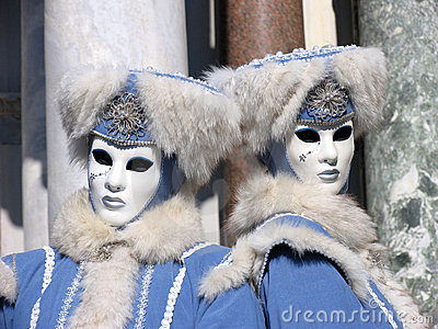 Italy, Venice Carnival: FURious twins