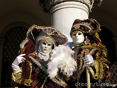 Italy, Venice Carnival: noble couple