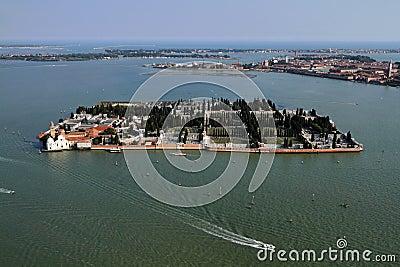 Italy, Venice, Murano Island, aerial view
