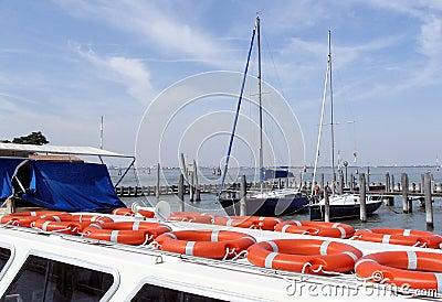 Italy, Venice, yacht port