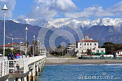 Italy Versilia, sea and mountains,  Editorial Photography