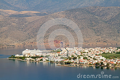Itea城镇从上面