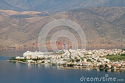 Itea Stadt von oben