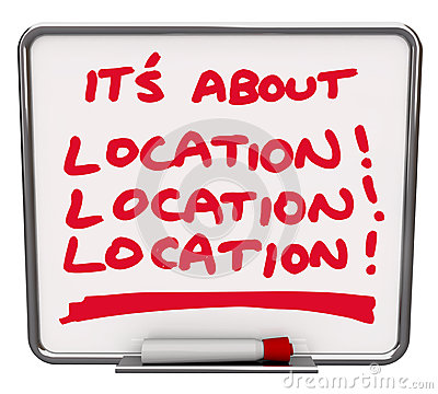 Its All About Location Destination Best Area Spot