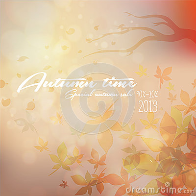 Its Autumn time Typography