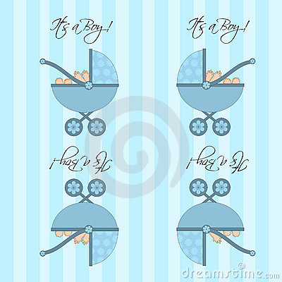 Its A Boy Blue Baby Pram  Seamless Tile Background
