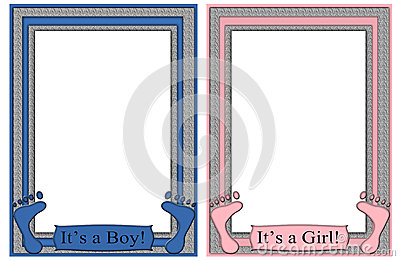 Its a Boy Its a Girl Frames Baby Feet