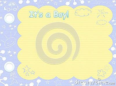 Its a boy template